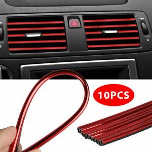 10x кондиционер воздуха воздуха выход декор полоски наклейка авто внутренние аксессуары