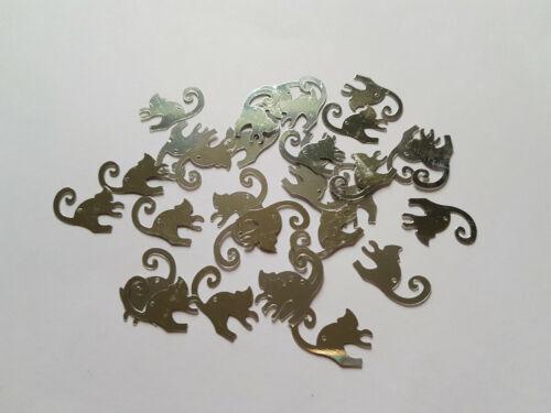 19mm-varios colores disponibles felices gatos 30 X CONFETI Craft Lentejuelas//