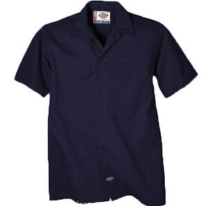 Details over Dickies Work Shirts Mens Short Sleeve Button Front Stripe Work Shirt WS515 COLOR
