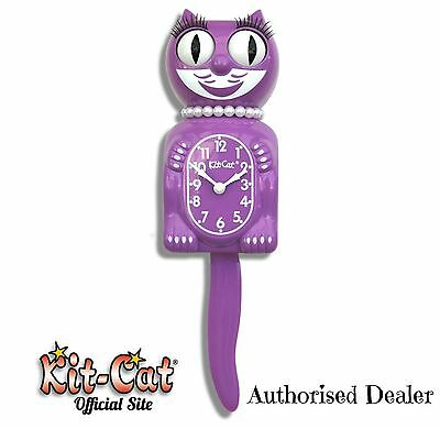 Radiant Orchid Lady Kit Cat Clock 40s 50s Rockabilly Vintage Limited Ed Purple