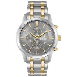 Bulova-Men-039-s-98B309-Quartz-Chronograph-Grey-Dial-Two-Tone-Bracelet-43mm-Watch