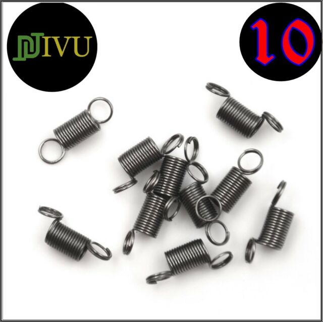 0.5x5x30mm Stainless Steel Small Dual Hook Tension Spring 5pcs