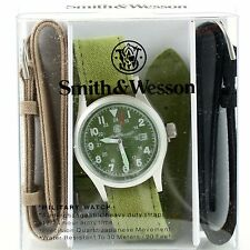 Smith & Wesson Military Olive Drab OD Face Tactical Watch w/ 3 Straps Gift Set
