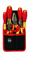 Wiha 32985 7 Piece Insulated Industrial Pliers//Cutters//Drivers Belt Set