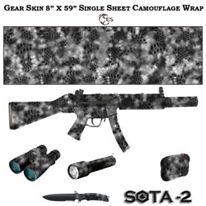 for Gun 6 patterns ES CAMO SOTA Matte Roll Skin 8x39in. 20sm x 100sm