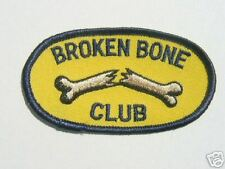 "MOTORCYCLE PATCH BIKER TRIKE 3.25"" x 2"" BROKEN BONE CLUB"