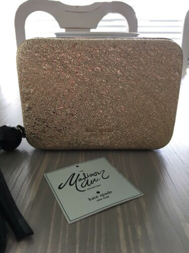 Avenue Zurie Collectie Madison Evening Clutch Nwt Kate Spade Gold Belles H29IDE