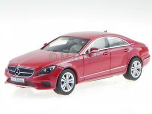 Mercedes-C218-CLS-class-Facelift-2014-red-met-diecast-model-car-Norev-1-43