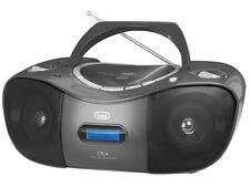 TREVI PORTATILE DAB RADIO STEREO BOOMBOX CON LETTORE CD USB MP3 & AUX IN NERO