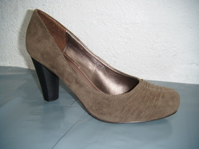Ladies A & M Classic Mushroom Suede Shoes.  Sizes 3, 4, 5, 6, 7 & 8 Available