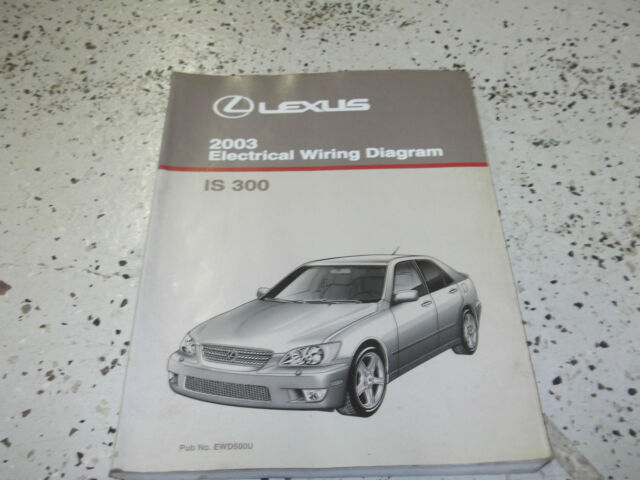 2003 Lexus Is300 Is 300 Electrical Wiring Diagram Service