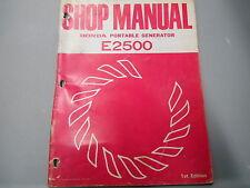 Honda Power Equipment Generator Factory Service Shop Manual E2500 628401