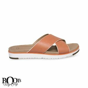096c10595b3 UGG KARI FIRE OPAL LEATHER FLAT SANDAL WOMEN`S FLIP FLOPS SIZE US 10 ...