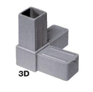 embout d 39 assemblage pour tube carre aluminium 3 d 25 x 25 x 2 mm ebay. Black Bedroom Furniture Sets. Home Design Ideas