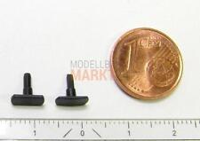 Ersatz-Puffer-Paar flach/gewölbt eckig z.B. für ROCO Diesellok NOHAB Spur H0 NEU