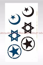 US SELLER- pentagram moon star temporary tattoo stickers tattoos