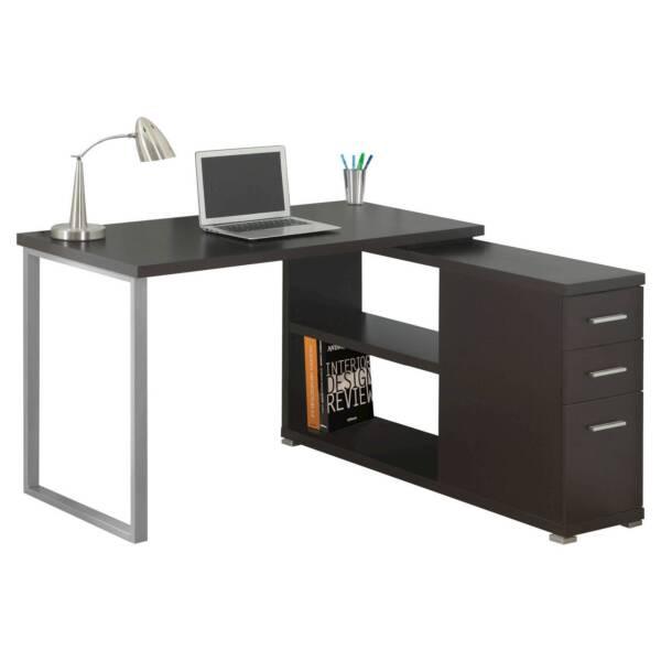 Monarch Specialties Computer Desk Cappuccino Left Or Right Corner I7132