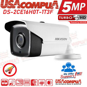 Hikvision 5MP Camera DS-2CE16H0T-IT3F IR 2D DNR DWDR Bullet Camera 2.8MM 2-PACK