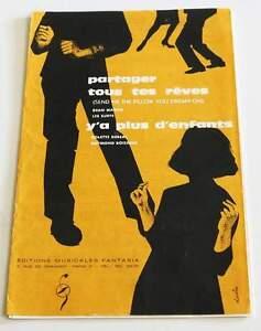 """Partition sheet music COLETTE DEREAL / SURFS / DEAN MARTIN * 60's - France - Commentaires du vendeur : """"Lire description svp / Please read item description"""" - France"""