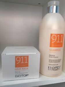 Quinoa Shampoo 1000 ml\/33.8 oz \u0026 Hair Mask 550 ml\/18.6 oz Biotop 911  eBay