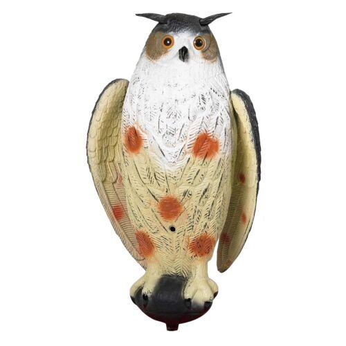 Lockvogel Uhu Hüttenuhu mit beweglichen Schwingen Krähenjagd Taubenschreck  NEU