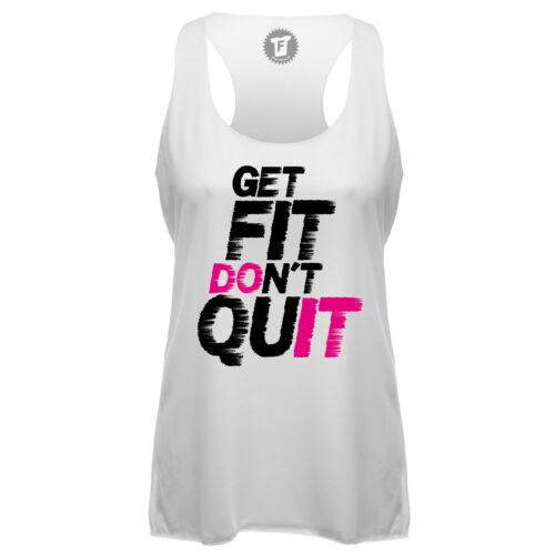 Fabtee Get Fit dont quit fitness sport Gym Crossfit loose tank top shirt Femmes