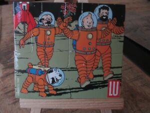 Hergé&Tintin-Puzzle magnétique,publicitaire LU-On a marché sur la lune-1994