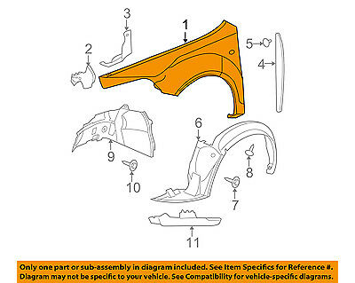 Front, Driver Side for Chevrolet Malibu GM1240356 2009 to 2012 New Fender