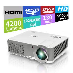 LED-Full-HD-1080p-Projektor-4200Lumen-Beamer-Heimkino-Videospiel-HDMI-2-USB-VGA