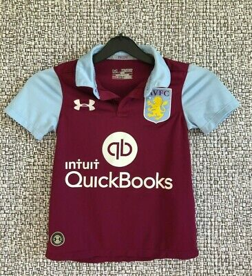 Aston Villa Under Armour Away Soccer Jersey Football Shirt Avfc Youth Size Xs Ebay