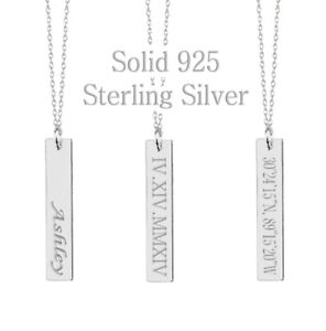 925-Sterling-Silver-Personalized-Monogram-Name-Bar-Necklace-Custom-Engraving
