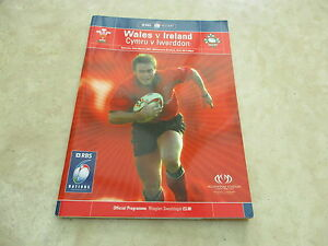 Wales v Ireland Saturday 22nd March 2003 RBS 6 Nations Match Programme - <span itemprop=availableAtOrFrom>Cardiff, Cardiff, United Kingdom</span> - Wales v Ireland Saturday 22nd March 2003 RBS 6 Nations Match Programme - Cardiff, Cardiff, United Kingdom