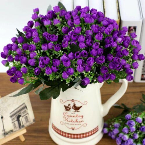 36 Cabeças De Flores De Seda Artificial Bando De Casamento Buquê Para Casa Túmulo Outdoor W8H