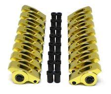 Small Block 350 Sbc Chevy Aluminum Full Roller Rockers Arms Kit 16 Ratio 38