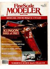 FINE SCALE MODELER MAGAZINE - March 1989