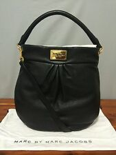 "NWT!!! Marc Jacobs New York Classic ""Hillier"" Hobo Handbag - Black Leather"