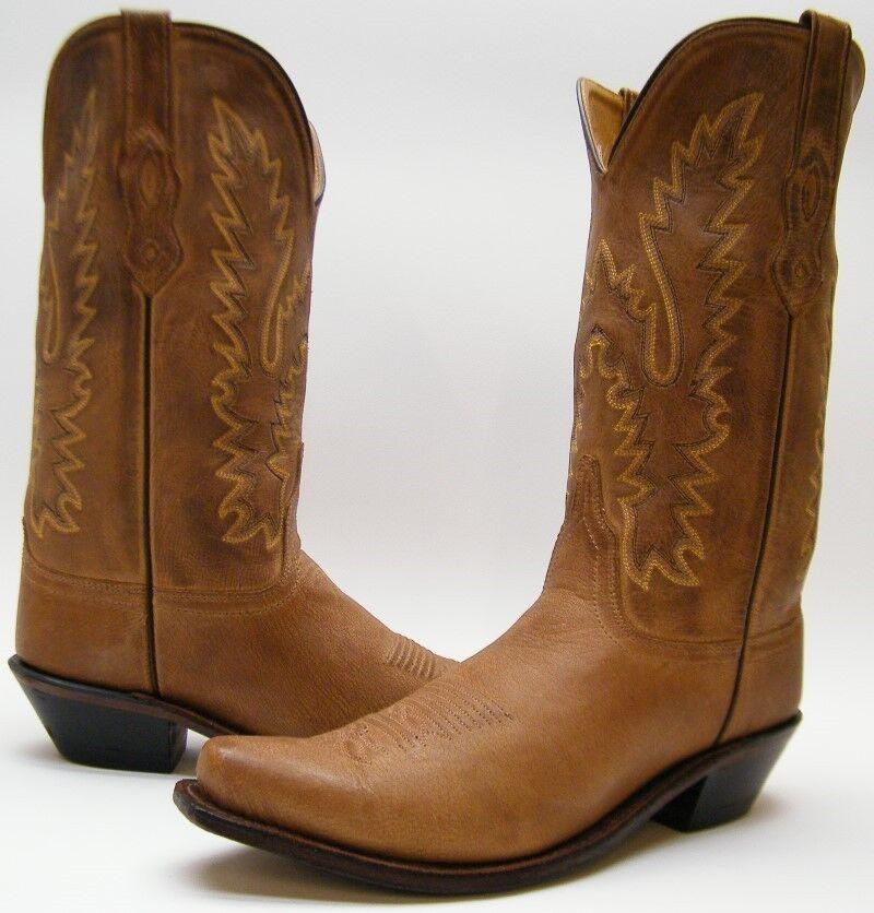 Para mujer Old West LF1529 Marrón Cuero Vaquero Occidental SNIP del del SNIP dedo del pie botas Tamaño 10 M 10M a50f4c