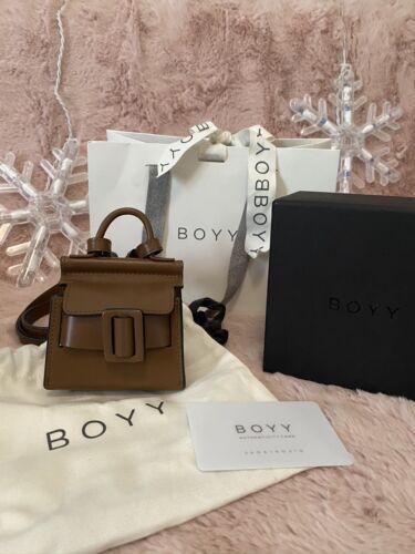 **Authentic** BOYY BAG Mini Karl Charm Leather Bag