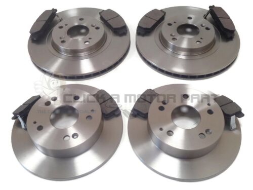 for HONDA CIVIC TYPE-R EP3 01-05 FRONT /& REAR BRAKE DISCS AND MINTEX PADS NEW