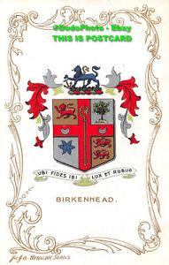 R420868 Birkenhead. Ubi Fides Ibi Lux Et Robur. Ja Ja. Heraldic Series