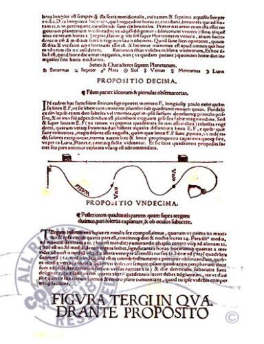 ASTRONOMY Petrus Apian Qvadrans Apiani Astronomicvs Et Iam Recens 1532