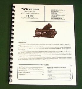 "Yaesu FT-1000MP MK V Technical Manual With all 11/""X17/"" Foldout Diagrams!"