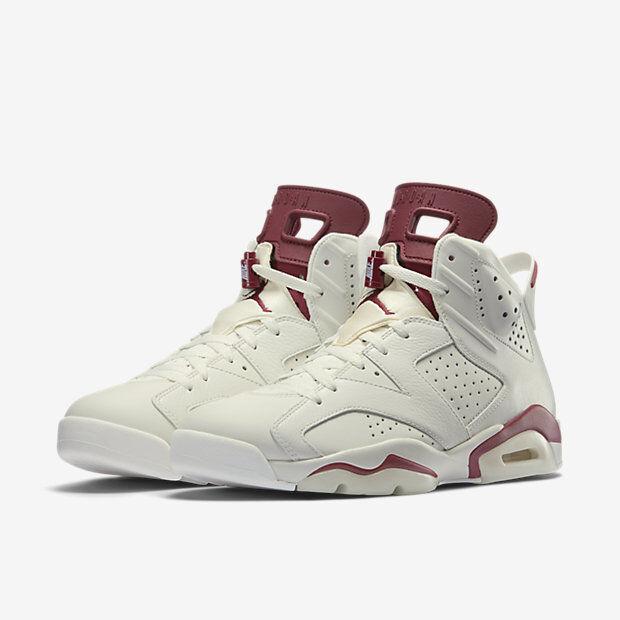 2015 Nike Nike Nike Air Jordan 6 VI Retro Maroon Size 11. 384664-116 1 2 3 4 5 086f03