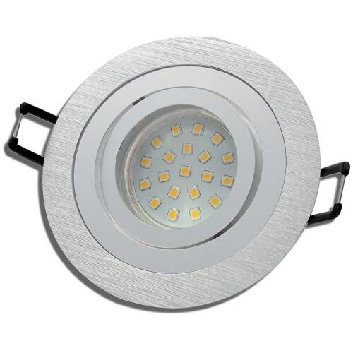 3 SMD LED Einbaustrahler Sandy 220V 5W Stufen Dimmbar Warmweiss 3000k