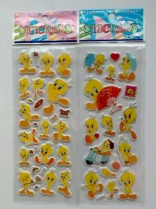 2pcs-lot-TWEETY-PIE-Puffy-Stickers-Sheets-Party