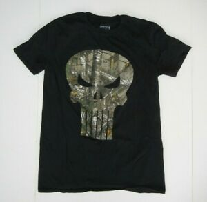New The Punisher Real Tree Camo Black T Shirt