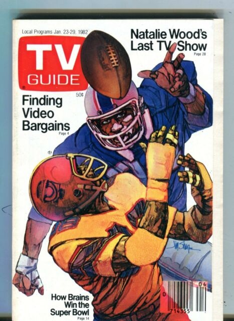 TV Guide Magazine January 23-29 1982 Super Bowl VG No ML 101316jhe