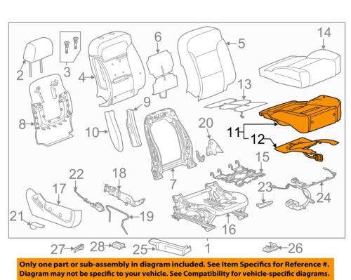 GM OEM Driver Seat-Foam Cushion Pad 22943727