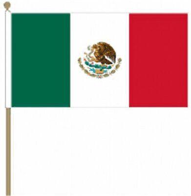 12 Stück Mexico (22.9cm X 15.2cm) Hand Winkfahne