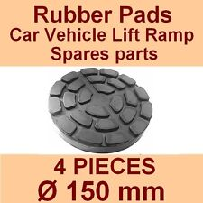 SET OF 4 PADS Ravaglioli 2 Post Car Lift Ramp Rubber Pads - 150mm -Made in Italy